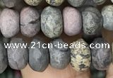 CRB4123 15.5 inches 5*8mm faceted rondelle artistic jasper beads