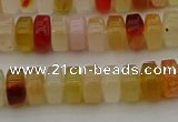 CRB413 15.5 inches 5*8mm rondelle yellow agate beads wholesale