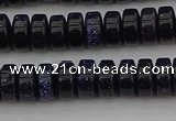 CRB420 15.5 inches 5*8mm rondelle blue goldstone beads wholesale