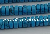 CRB440 15.5 inches 5*8mm rondelle turquoise beads wholesale