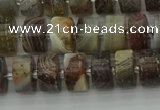 CRB487 15.5 inches 5*8mm tyre matte botswana agate beads wholesale
