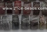 CRB490 15.5 inches 7*14mm tyre matte botswana agate beads wholesale