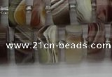 CRB497 15.5 inches 8*16mm tyre botswana agate beads wholesale