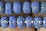 CRB5025 15.5 inches 4*6mm rondelle matte lapis lazuli beads wholesale