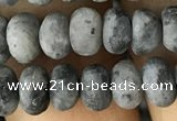CRB5026 15.5 inches 4*6mm rondelle matte labradorite beads wholesale