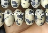 CRB5059 15.5 inches 5*8mm rondelle matte dalmatian jasper beads