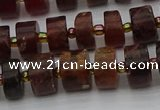 CRB506 15.5 inches 6*10mm tyre orange garnet beads wholesale