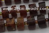 CRB507 15.5 inches 6*12mm tyre orange garnet beads wholesale