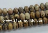 CRB53 15.5 inches 5*8mm rondelle picture jasper gemstone beads