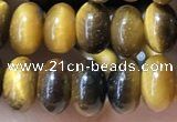 CRB5320 15.5 inches 4*6mm rondelle yellow tiger eye beads