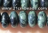CRB5343 15.5 inches 5*8mm rondelle green picture jasper beads