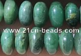 CRB5345 15.5 inches 5*8mm rondelle green jasper beads