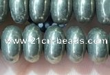 CRB5351 15.5 inches 5*8mm rondelle pyrite beads wholesale