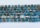 CRB5601 15.5 inches 7mm - 8mm faceted tyre apatite beads