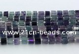 CRB5605 15.5 inches 7mm - 8mm faceted tyre fluorite beads