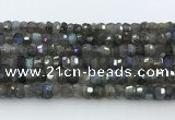 CRB5620 15.5 inches 4*7mm – 5*8mm faceted rondelle labradorite beads