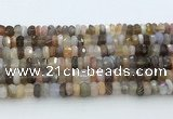 CRB5626 15.5 inches 3*6mm – 4*7mm faceted rondelle Botswana agate beads