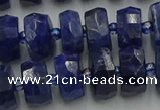 CRB582 15.5 inches 7*12mm faceted rondelle sodalite beads