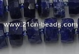 CRB583 15.5 inches 8*14mm faceted rondelle sodalite beads