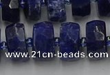 CRB584 15.5 inches 8*16mm faceted rondelle sodalite beads