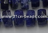 CRB585 15.5 inches 8*18mm faceted rondelle sodalite beads