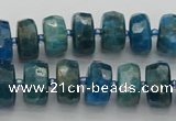 CRB590 15.5 inches 7*12mm faceted rondelle apatite beads
