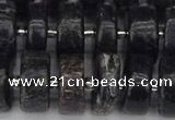 CRB634 15.5 inches 7*14mm tyre charoite gemstone beads