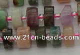 CRB672 15.5 inches 6*10mm tyre mixed gemstone beads wholesale
