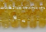 CRB845 15.5 inches 8*16mm faceted rondelle citrine beads