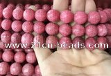 CRC1055 15.5 inches 13mm faceted round rhodochrosite beads
