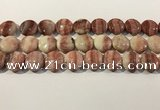 CRC1070 15.5 inches 20mm flat round rhodochrosite beads