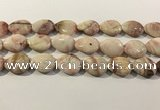 CRC1086 15.5 inches 18*25mm flat teardrop rhodochrosite beads