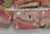 CRC111 15.5 inches 22*30mm rectangle natural argentina rhodochrosite beads