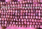 CRC1173 15.5 inches 6mm faceted round rhodochrosite beads wholesale