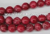 CRC19 15.5 inches 10mm round dyed rhodochrosite gemstone beads