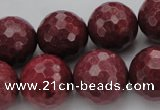 CRC807 15.5 inches 18mm faceted round Brazilian rhodochrosite beads