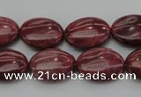 CRC834 15.5 inches 15*20mm oval Brazilian rhodochrosite beads