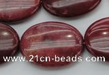 CRC837 15.5 inches 30*40mm oval Brazilian rhodochrosite beads