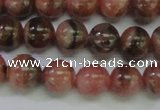 CRC915 15.5 inches 8mm round natural rhodochrosite beads