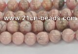 CRC921 15.5 inches 6mm round natural rhodochrosite beads
