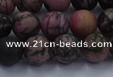 CRD26 15.5 inches 10mm round matte rhodonite beads wholesale