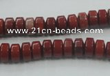CRE05 16 inches 5*8mm rondelle natural red jasper beads wholesale