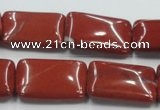 CRE17 16 inches 18*25mm rectangle natural red jasper beads wholesale