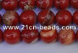 CRE303 15.5 inches 10mm round red jasper beads wholesale