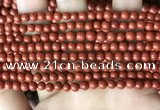 CRE350 15.5 inches 4mm round red jasper beads wholesale