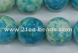 CRF108 15.5 inches 20mm round dyed rain flower stone beads wholesale