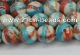 CRF401 15.5 inches 10mm round dyed rain flower stone beads wholesale