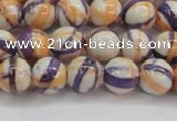 CRF412 15.5 inches 8mm round dyed rain flower stone beads wholesale