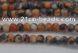 CRF446 15.5 inches 3mm round dyed rain flower stone beads wholesale