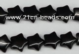 CRG07 15.5 inches 12*12mm star black agate gemstone beads wholesale